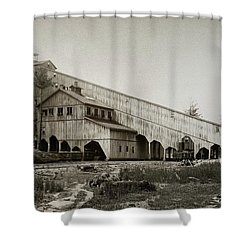 Wilkes Barre Twp Pa Empire Number 5 Coal Breaker 1880 Lehigh And Wb Coal Co. Shower Curtain