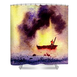 Will Power Shower Curtain by Anil Nene