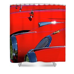 Shower Curtain featuring the photograph Will The Owner Of The Red Car by John Schneider