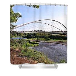 Willamette Pedestrian Bridge Shower Curtain