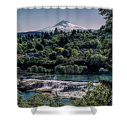 Willamette River Falls Locks Shower Curtain