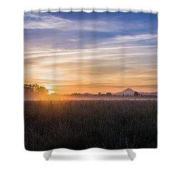 Willamette Valley Sunrise Shower Curtain