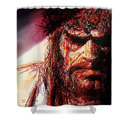Willem Dafoe - Actor Shower Curtain by Hartmut Jager