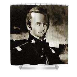 William B Travis - The Alamo Shower Curtain