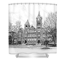 William J Samford Hall Auburn University Shower Curtain