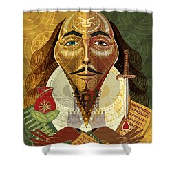 William Shakespeare Shower Curtain