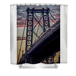 Williamsburg Bridge Structure Shower Curtain
