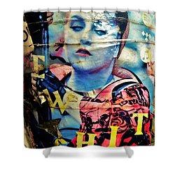 Williamsburg Brooklyn Woman Mural  Shower Curtain