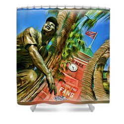 Willie Mays  Shower Curtain by Blake Richards