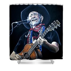 Willie Nelson 2 Shower Curtain by Tom Carlton
