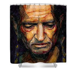 Willie Nelson Portrait 2 Shower Curtain