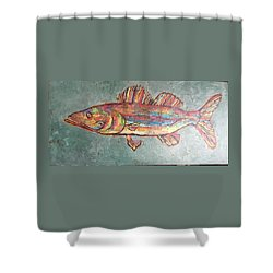 Willie The Walleye Shower Curtain
