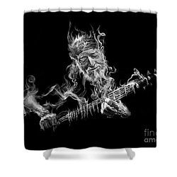 Willie - Up In Smoke Shower Curtain