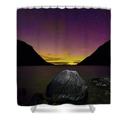 Willoughby Aurora And Boulder Shower Curtain