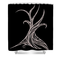 Willow Curve Shower Curtain by Jamie Lynn