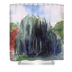Willow Tree -2  Hidden Lake Gardens -tipton Michigan Shower Curtain