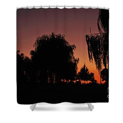 Willow Tree Silhouettes Shower Curtain by Joe  Ng