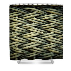 Shower Curtain featuring the photograph Willow Weave by Les Cunliffe