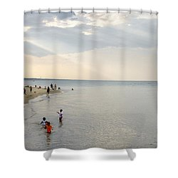 Wilmette Beach Labor Day 2009 Shower Curtain