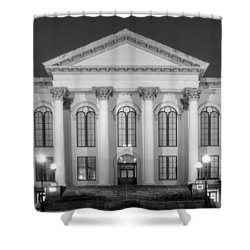 Wilmington North Carolina City Hall In Black And White Shower Curtain