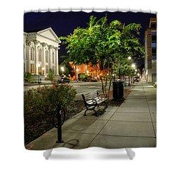 Wilmington Sidewalk At Night Shower Curtain