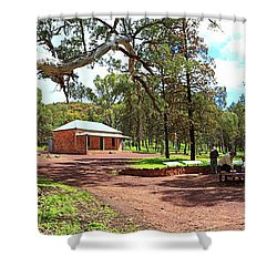 Wilpena Pound Homestead Shower Curtain by Bill Robinson
