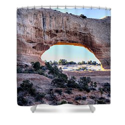 Wilson Arch In The Morning Shower Curtain by Alan Toepfer