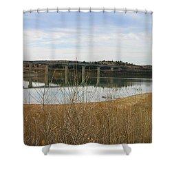 Wilson Lake Hell Creek Bridge Shower Curtain