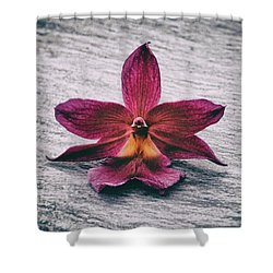 Wilting Orchid  Shower Curtain