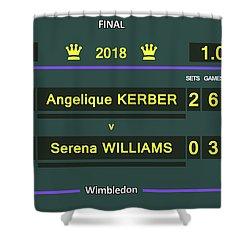 Wimbledon Scoreboard - Customizable - 2017 Muguruza Shower Curtain