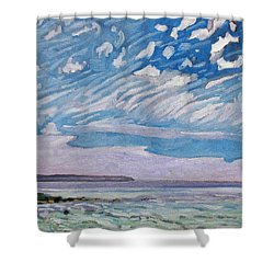 Wimpy Cold Front Shower Curtain by Phil Chadwick