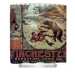 Winchester Sign Shower Curtain