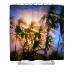 Wind And Palms Shower Curtain