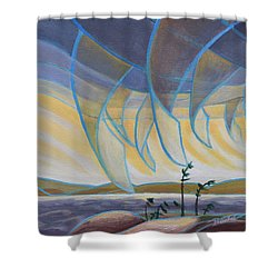 Wind And Rain Shower Curtain