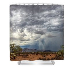 Shower Curtain featuring the photograph Wind And Rain by Rick Furmanek