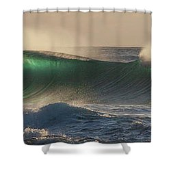 Wind And Waves Shower Curtain by Roger Mullenhour