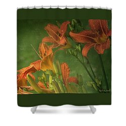 Wind Blown And Rain Spattered Shower Curtain