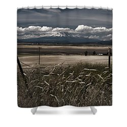 Wind Blown Plains Shower Curtain