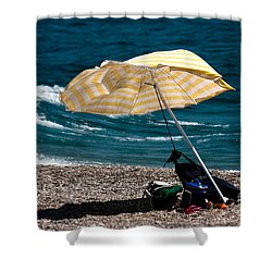 Wind  Shower Curtain by Bruno Spagnolo