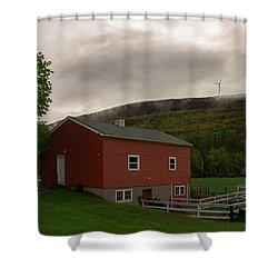 Wind Farm - Hancock Mass Shower Curtain