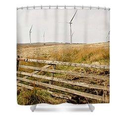 Wind Farm On Miller's Moss. Shower Curtain
