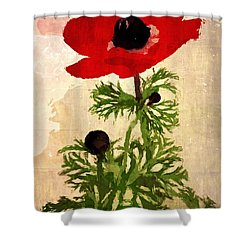 Wind Flower Shower Curtain by Alexis Rotella