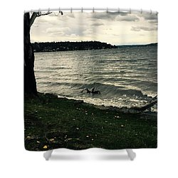 Wind Followed By Waves Shower Curtain