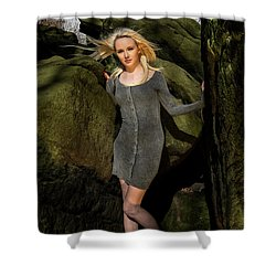 Wind In Her Hair Shower Curtain