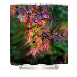Wind In The Maple Shower Curtain