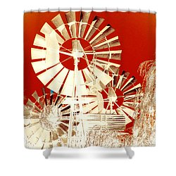 Shower Curtain featuring the photograph Wind In The Willows by Holly Kempe