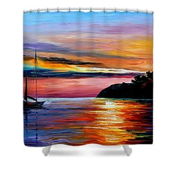 Wind Of Hope Shower Curtain by Leonid Afremov