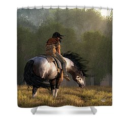 Shower Curtain featuring the digital art Wind Of The Forest by Daniel Eskridge