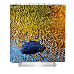 Shower Curtain featuring the photograph Wind On Water by Aimelle