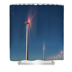 Shower Curtain featuring the photograph Wind Power by Cat Connor